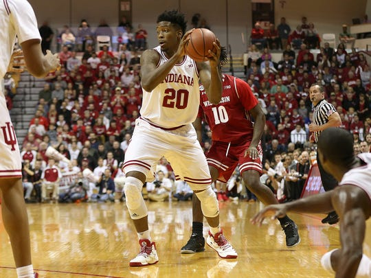 IU freshman De'Ron Davis will likely see an uptick in playing time due to injuries.
