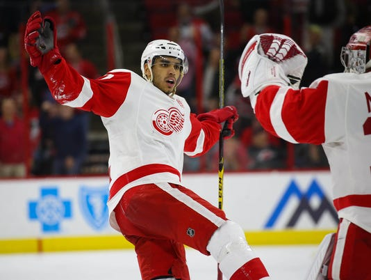 NHL: Detroit Red Wings at Carolina Hurricanes