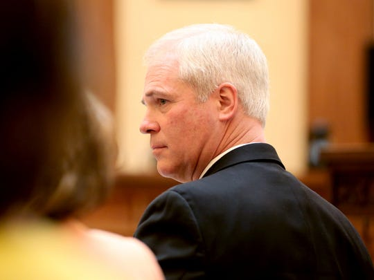 Marion County Circuit Judge Vance Day listens during a judicial fitness hearing regarding his conduct at the Oregon Supreme Court in Salem on Wednesday, June 14, 2017.