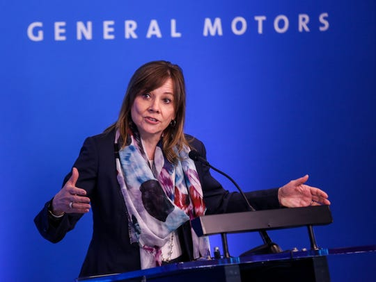 Mary Barra, chairman and CEO of General Motors speaks