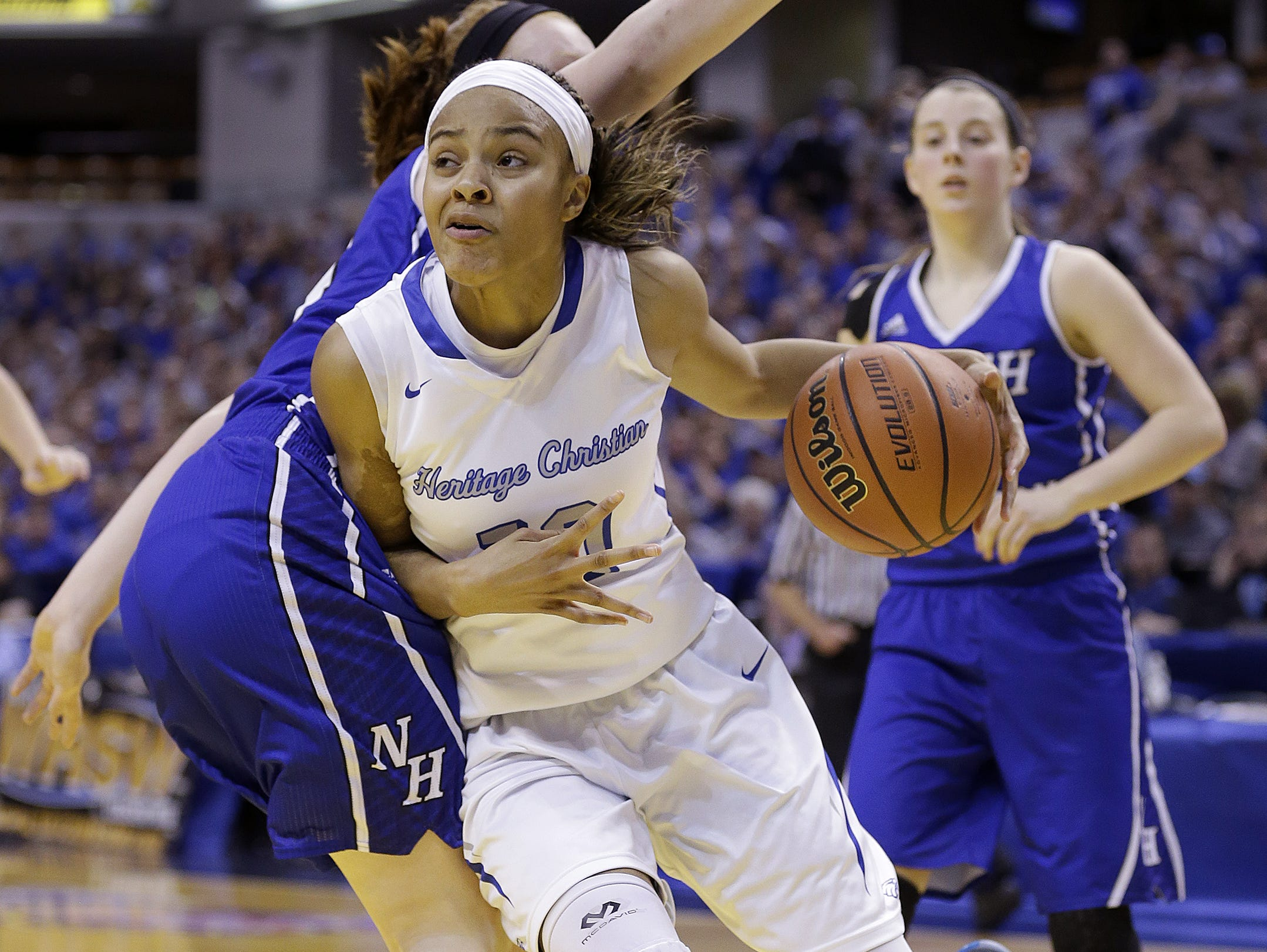 Heritage Christian's Katlyn Gilbert helped the Eagles to a Class 3A state title last season.