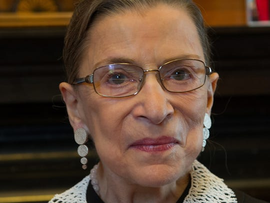 Supreme Court Justice Ruth Bader Ginsburg in her chambers