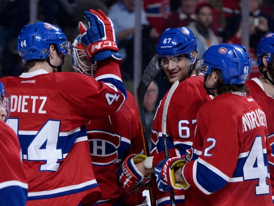 USP NHL: DETROIT RED WINGS AT MONTREAL CANADIENS S HKN CAN QU