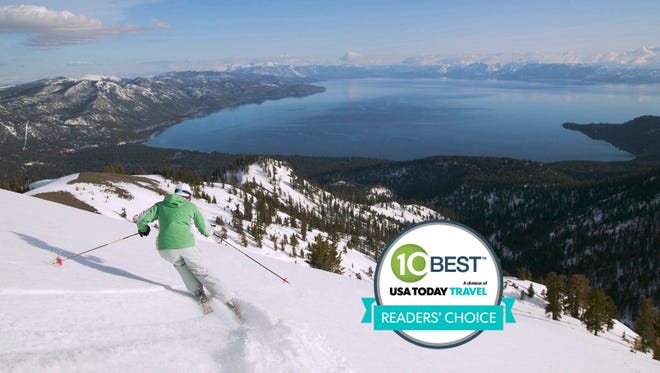 South Tahoe was voted the best ski destination in N. America by 10Best.com and USA TODAY readers.