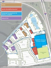 This map shows the proposed district and projects for Davenport's second Reinvestment District application.