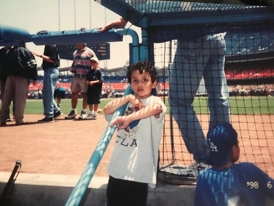 Sammy Roth at Dodger Stadium in 1999.