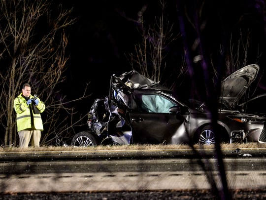Driver Ralph Chevalier, 50, and his passenger, Dawn Bortner, 45, both of Middletown where killed when their  car was involved in a four-vehicle crash on Friday, Nov. 20, 2015, on Interstate 78 in Union Township. The other vehicles were tractor trailers.