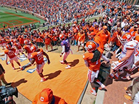 Clemson spring game at Memorial Stadium in Clemson.