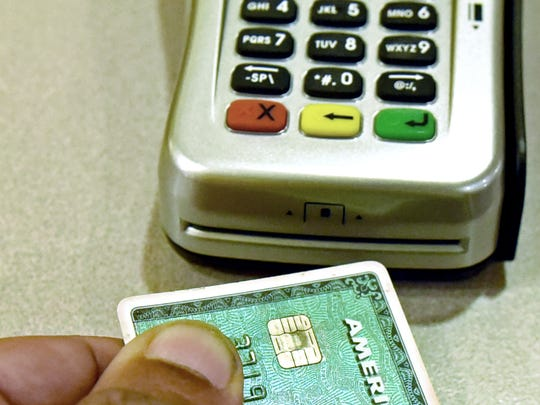 A credit card with a special chip is used to protect a retail customer's identity.