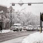 Cedar city gets hit with anther snow storm with conditions getting worst for drivers on Main Street.
