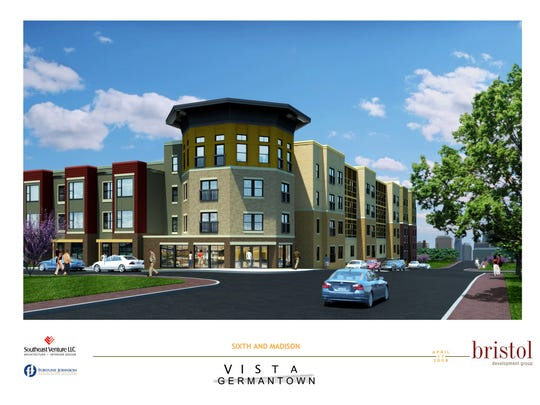 Vista Germantown is going up at Fifth Avenue North and Madison Street in Germantown.