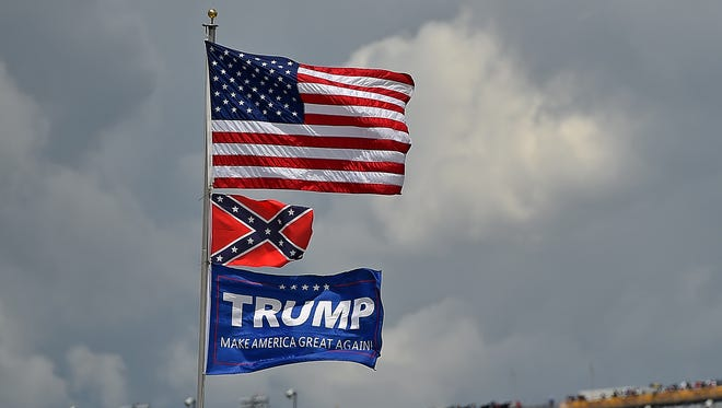 It is not uncommon to see Confederate flags flying at any racetrack where NASCAR events are held.