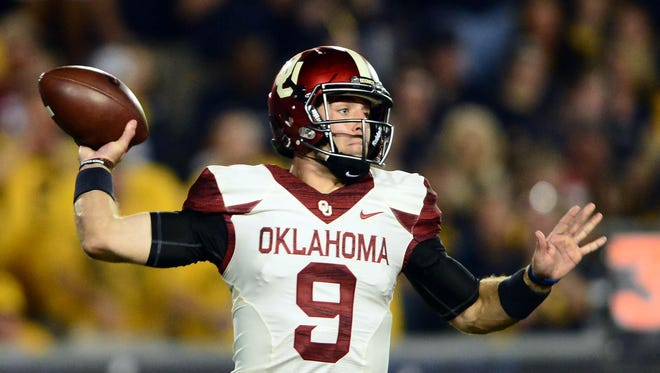 Quarterback Trevor Knight (9) and the Oklahoma Sooners continue to get stronger consideration from the Playoff Projection panel.