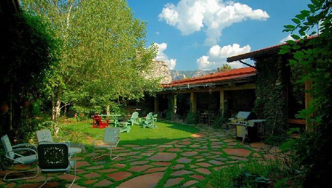 The courtyard at El Portal in Sedona.