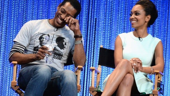 Orlando Jones and Lyndie Greenwood