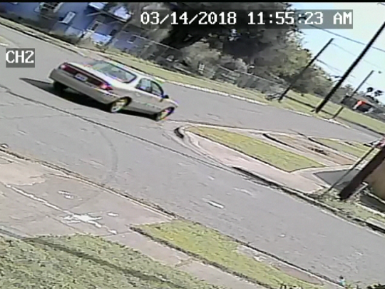 A news release from the Corpus Christi Police Department said officers are looking for this vehicle because they it may be related to a fatal shooting Wednesday, March 14, 2018, in the 2000 block of Coleman Avenue.