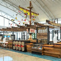 A rendering of the pirate-themed Gasparilla Bar coming to Tampa International Airport.