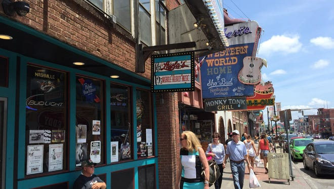 Nashville's Lower Broadway, particularly the 400 block, is full of free music venues.