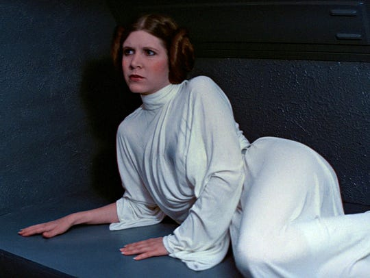 Carrie Fisher as Princess Leia in the original 'Star