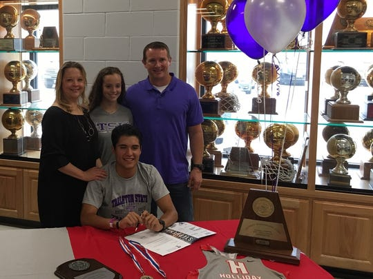 Holliday's James Sheriff signed with Tarleton State to run cross-county next fall.