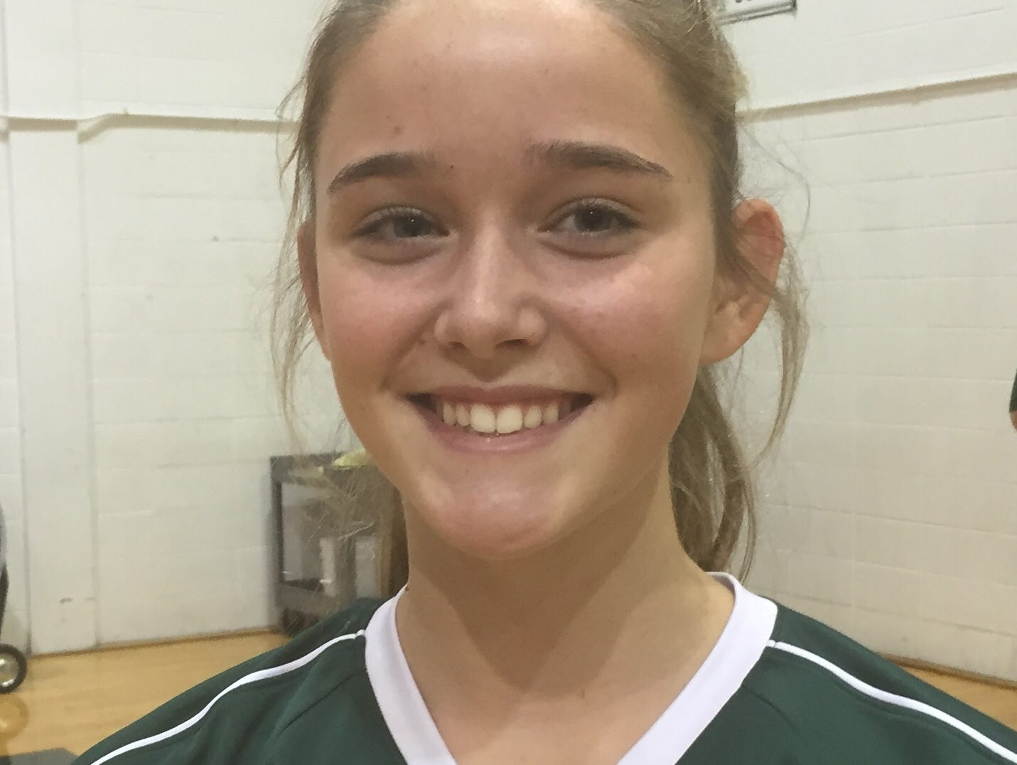 Sophomore Nicki Kelly finished with five kills and three digs in Archmere's 3-0 sweep of Wilmington Friends on Tuesday.