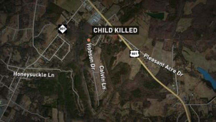 A Davie County child is dead after falling out of a