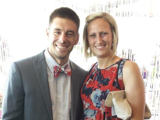 Wayne State police officer Collin Rose and fiancé Nikki
