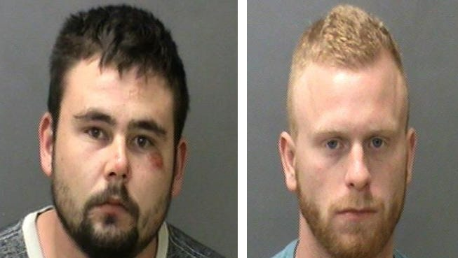 Devin Asberry (left) and Camron Perkins were arrested Sunday on preliminary charges of murder and robbery.