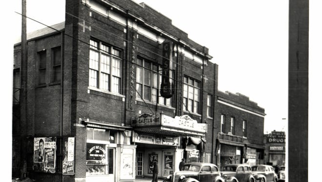The former Castle Theater in the long-gone Black Bottom section of Detroit.