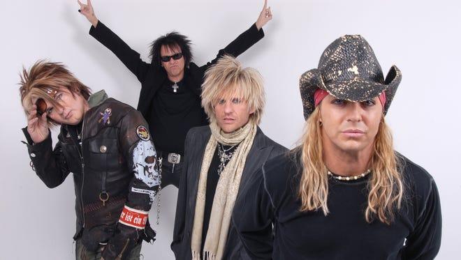 Poison.  From left: Rikki Rockett, Bobby Dall, C.C. DeVille and Bret Michaels.