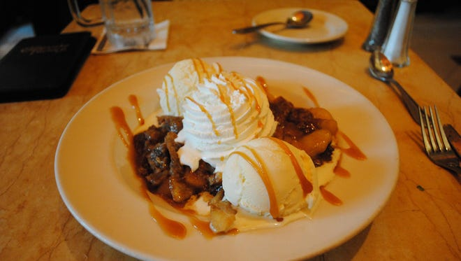 Warm apple crisp at The Cheesecake Factory: 1,740 calories.