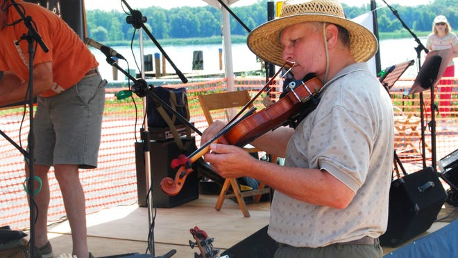 """Walt Schlichting, of Port Sanilac, plays with the group """"Ourselves."""""""