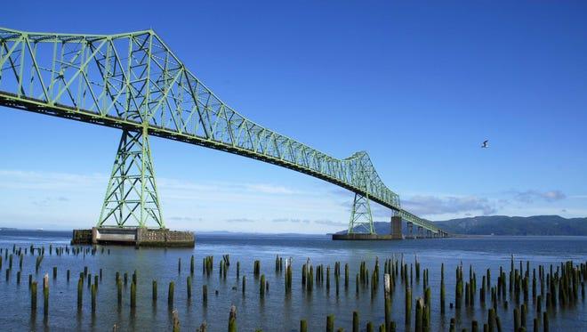 The Astoria-Megler Bridge is the longest continuous truss bridge in North America, spanning 21,677 feet, or 4.1 miles, over the Columbia River.