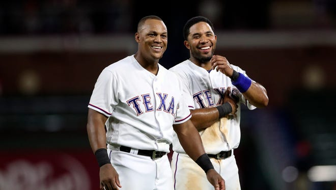 Adrian Beltre, left, and Elvis Andrus have been teammates since 2011.