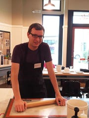 Tad shows of his rolling skills during his time at Sur La Table.