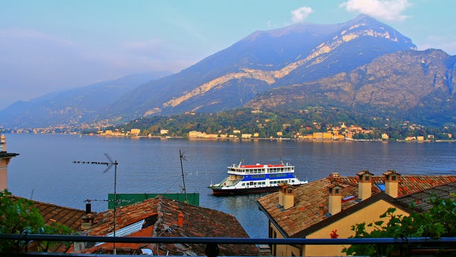 A view from the Burns' Hotel Bellagio room on Lake Como.
