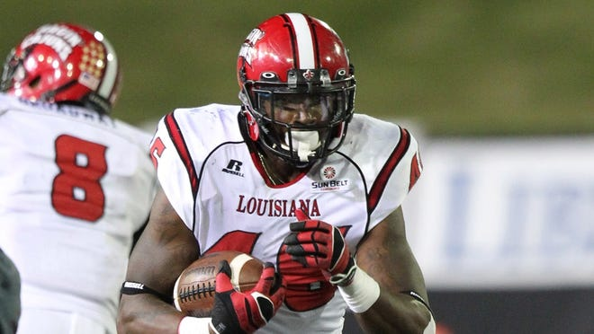UL running back Alonzo Harris was third in the Sun Belt Conference in rushing last season while setting a career best with 942 yards and 14 touchdowns.