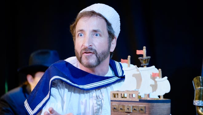 "Paul Riopelle as Louis de Rougemont in ""Shipwrecked! An Entertainment."""