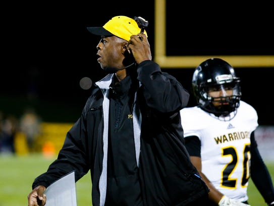 Waverly Coach Anthony Walker coaches his Warriors against