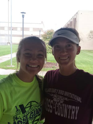 Clyde's Melissa Laconis, left, and Maddie St. Marie qualified to Thursday's state tennis tournament.