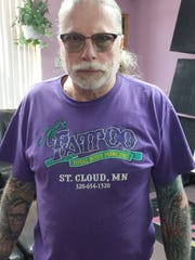 Judy Hunstiger said those who never set foot in their shop might still recognize Jeff from around town because he was always wearing his trademark orange or purple Jeff's Tattoo and Total Body Piercing T-shirt.