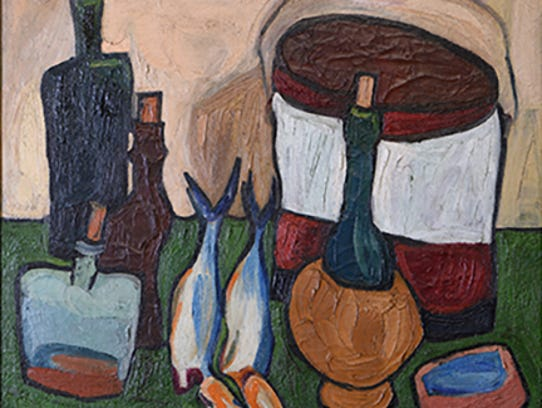 """STILL LIFE"" 1938, by William H. Johnson. Oil on burlap."