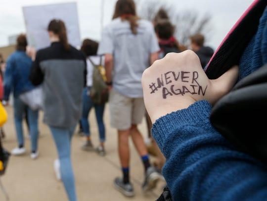 At least 300 students at Kickapoo High School walked