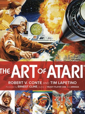The cover for The Art of Atari.