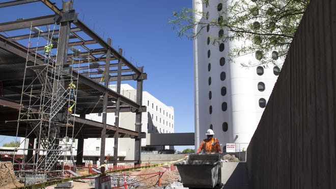 Construction continues on the new emergency room, March 22, 2016, at Banner-University Medical Center Phoenix, 1111 E. McDowell Road, Phoenix.