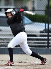 Richmond's Paityn Farris bats against Muncie Central