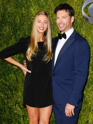 Harry Connick Jr. (R) and his daughter Georgia Connick (L) at the 2015 Tony Awards.