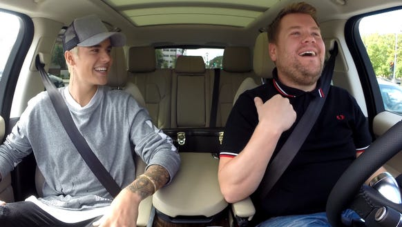 Justin Bieber has also gone along for the ride with