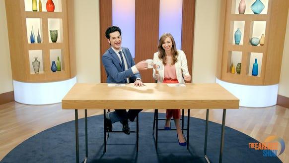Ben Schwartz, left, and Lauren Lapkus co-star in new,