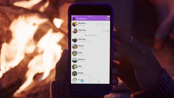 how to create a snapchat group story